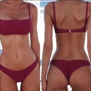 Other - Women's burgundy Swim Set